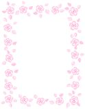 Rose border / wedding invitation Royalty Free Stock Photo