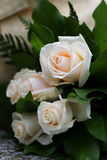 Rose bouquet. Bouquet of beautiful white roses Royalty Free Stock Images