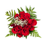 Rose bouquet from above Royalty Free Stock Photos