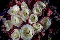 Rose Bouquet blanca Foto de archivo