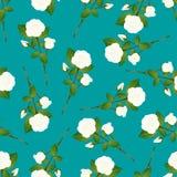 Rose Bouquet blanche sur Teal Background vert Illustration de vecteur Illustration Libre de Droits