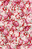 Rose bouquet design Seamless pattern on fabric as  background Stock Photos