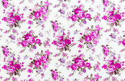 Rose bouquet design Seamless pattern on fabric as  background Royalty Free Stock Photography
