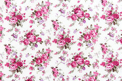 Rose bouquet design Seamless pattern on fabric as  background Royalty Free Stock Image