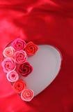 Rose Bouquet en Valentine Heart Photo stock