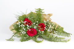 Rose bouquet with green leafs Royalty Free Stock Photos
