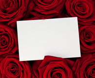 Rose bouquet with a note. Royalty Free Stock Photo