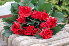 Rose bouquet. Red rose bouquet for a special friend Royalty Free Stock Image