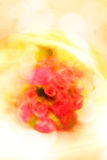 Rose bouquet, slow shutter speed and  rotate ca Royalty Free Stock Photography