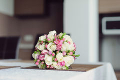 Rose Bouquet on Table Royalty Free Stock Photo