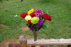 Rose Bouquet in Texas outdoors Setting royalty free stock photography