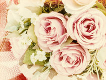 Rose bouquet on texture paper Royalty Free Stock Photography