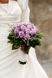 Rose bouquet wedding woman dress Stock Photo