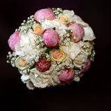 Rose Bouquet with white and pink roses Royalty Free Stock Photography