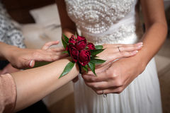 Rose boutonniere Royalty Free Stock Photography