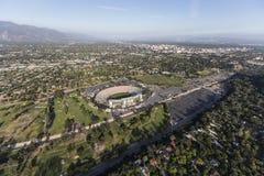 Rose Bowl ed il San Gabriel Valley Aerial Fotografia Stock
