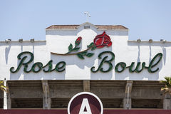 Rose Bowl Sign em Pasadena Califórnia Fotografia de Stock