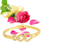 Rose and Bracelet Royalty Free Stock Photos