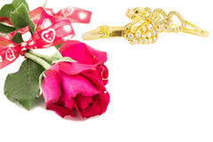 Rose and Bracelet Stock Photography