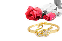 Rose and Bracelet Stock Images
