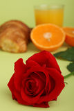 Rose and breakfast Stock Photo