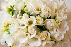 Rose Bridal Flower Wedding Bouquet blanca Imagenes de archivo