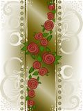 Rose on a broad vertical strip Royalty Free Stock Photo