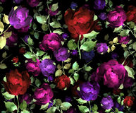 Impressionist handpainted roses Royalty Free Stock Photos