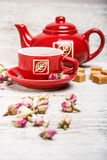 Rose bud tea Stock Image