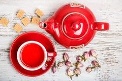 Rose bud tea Royalty Free Stock Photo