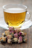 Rose bud tea Stock Photo