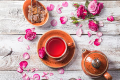Rose buds tea in a cup Royalty Free Stock Photography