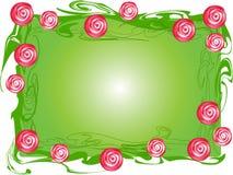 Rose-Busch Rand lizenzfreie abbildung