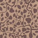 Rose bush. In one pattern Stock Photo