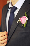 Rose in buttonhole Royalty Free Stock Photo
