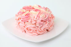 Rose cake Stock Images