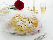 Rose cake. With passito wine Royalty Free Stock Image