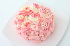 Rose cake Stock Image