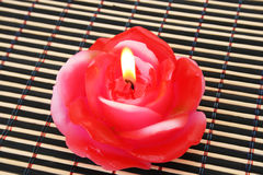 Rose candle royalty free stock images