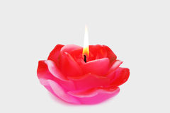 Rose candle Royalty Free Stock Photo