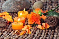 Rose candle light Stock Photography