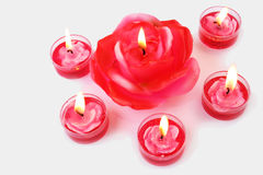 Rose candles Royalty Free Stock Photos