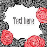 Rose Card Fotografia Stock