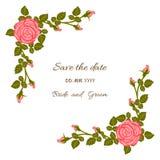 Rose Card Fotografia Stock Libera da Diritti