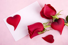 Rose & Card Royalty Free Stock Images