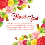 Rose card border Stock Photos