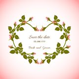 Rose card Royalty Free Stock Images