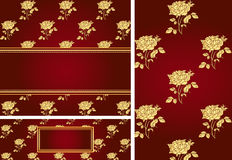 Rose card collection Royalty Free Stock Images