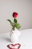 Rose with Card in German Für meinen Schatz Stock Photos