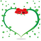 Rose Cartoon 002 Lizenzfreies Stockfoto